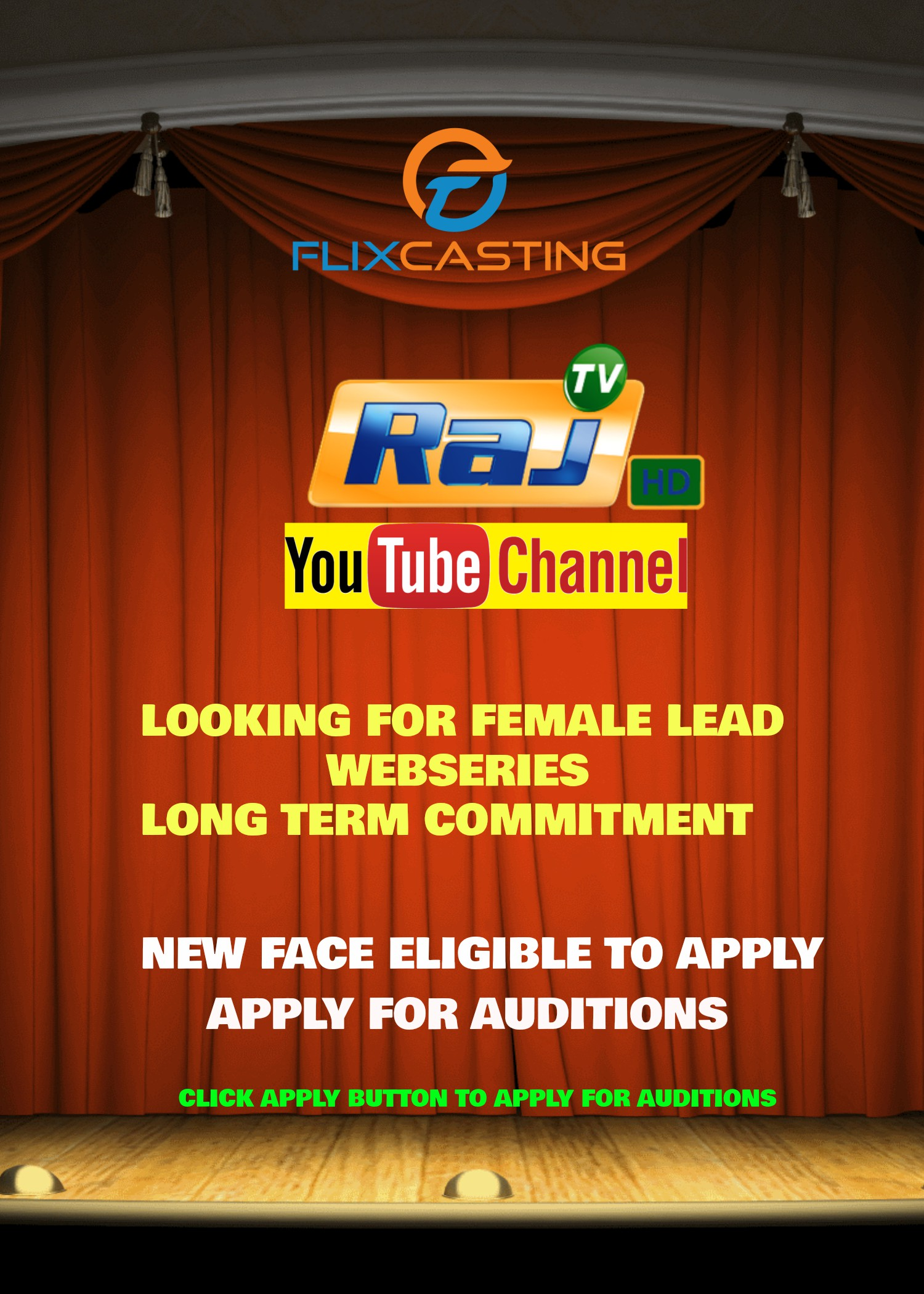 RAJ TV Youtube channel - Looking For Female Lead for